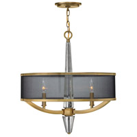 Hinkley 4753BC Ascher 3 Light 21 inch Brushed Caramel Foyer Pendant Ceiling Light, Crystal