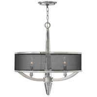 Hinkley 4753PN Ascher 3 Light 21 inch Polished Nickel Pendant Ceiling Light, Crystal