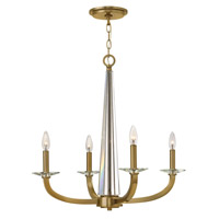 Hinkley 4754BC Ascher 4 Light 25 inch Brushed Caramel Chandelier Ceiling Light