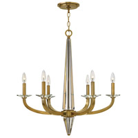 Ascher 6 Light 28 inch Brushed Caramel Foyer Chandelier Ceiling Light