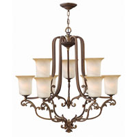 Hinkley Maribella 2 Tier 9Lt Chandelier in Royal Bronze 4768RY photo thumbnail