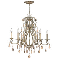 Hinkley 4776SL Carlton 6 Light 28 inch Silver Leaf Chandelier Ceiling Light