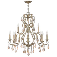 Carlton 12 Light 35 inch Silver Leaf Chandelier Ceiling Light