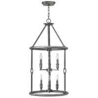 Hinkley 4784PL Dakota 6 Light 18 inch Polished Antique Nickel Foyer Light Ceiling Light