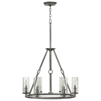 Hinkley 4786PL Dakota 6 Light 27 inch Polished Antique Nickel Chandelier Ceiling Light