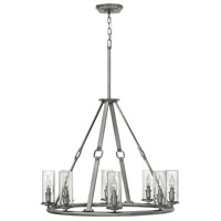 Hinkley 4788PL Dakota 8 Light 32 inch Polished Antique Nickel Foyer Chandelier Ceiling Light