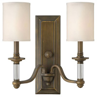 Sussex 2 Light 16 inch English Bronze Sconce Wall Light