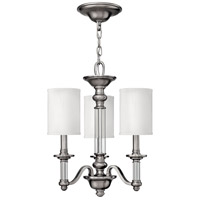 Hinkley 4793BN Sussex 3 Light 16 inch Brushed Nickel Chandelier Ceiling Light