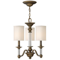 Hinkley 4793EZ Sussex 3 Light 16 inch English Bronze Chandelier Ceiling Light