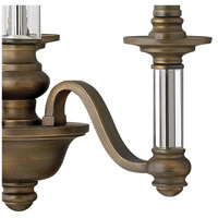 Hinkley 4793EZ Sussex 3 Light 16 inch English Bronze Chandelier Ceiling Light alternative photo thumbnail