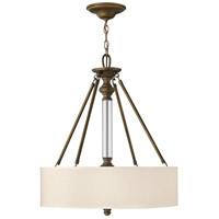 Hinkley 4794EZ Sussex 3 Light 22 inch English Bronze Inverted Pendant Ceiling Light