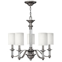 Hinkley 4795BN Sussex 5 Light 26 inch Brushed Nickel Chandelier Ceiling Light