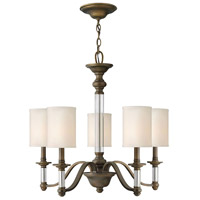 Hinkley 4795EZ Sussex 5 Light 26 inch English Bronze Chandelier Ceiling Light