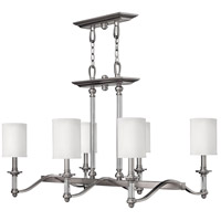 Sussex 6 Light 37 inch Brushed Nickel Linear Chandelier Ceiling Light
