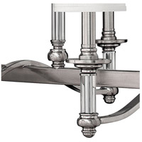 Hinkley 4796BN Sussex 6 Light 37 inch Brushed Nickel Linear Chandelier Ceiling Light alternative photo thumbnail