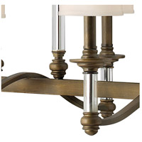 Hinkley 4796EZ Sussex 6 Light 37 inch English Bronze Linear Chandelier Ceiling Light alternative photo thumbnail