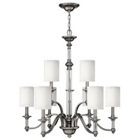 Hinkley 4798BN Sussex 9 Light 32 inch Brushed Nickel Foyer Chandelier Ceiling Light