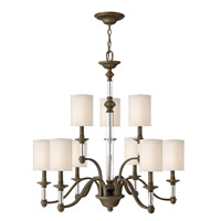 Sussex 9 Light 32 inch English Bronze Chandelier Ceiling Light, 2 Tier
