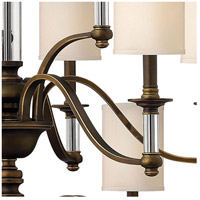 Hinkley 4799EZ Sussex 15 Light 47 inch English Bronze Foyer Chandelier Ceiling Light in Off-White Fabric Shade, 3 Tier alternative photo thumbnail