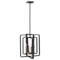 Hinkley 4814DZ Quentin 4 Light 17 inch Aged Zinc Foyer Chandelier Ceiling Light