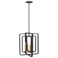 Hinkley 4814KZ Quentin 4 Light 17 inch Buckeye Bronze Foyer Chandelier Ceiling Light