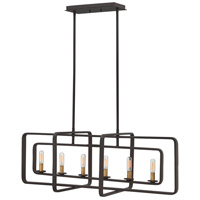 Hinkley 4815KZ Quentin 6 Light 36 inch Buckeye Bronze Linear Chandelier Ceiling Light