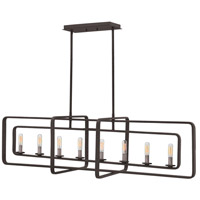 Quentin 8 Light 45 inch Aged Zinc Linear Foyer Ceiling Light