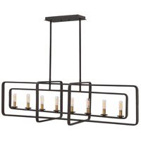 Hinkley 4818KZ Quentin 8 Light 45 inch Buckeye Bronze Linear Foyer Ceiling Light