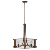 Hinkley 4824IR Beckett 4 Light 22 inch Iron Rust Chandelier Ceiling Light