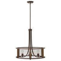 Hinkley 4824IR Beckett 4 Light 22 inch Iron Rust/Aged Chestnut Chandelier Ceiling Light Open Air