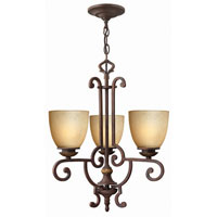 Hinkley French Creek 3Lt Chandelier in Weathered Iron 4833WI