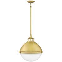 Hinkley 4835SA Fletcher 2 Light 18 inch Satin Brass Pendant Ceiling Light