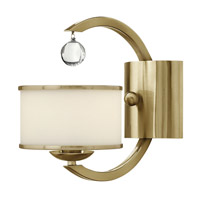 Hinkley 4850BC Monaco 1 Light 6 inch Brushed Caramel Sconce Wall Light, Etched Opal Glass