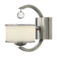 Monaco 1 Light 6 inch Brushed Nickel Sconce Wall Light, Etched Opal Glass