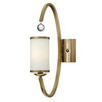 Monaco 1 Light 5 inch Brushed Caramel Sconce Wall Light, Etched Opal Glass