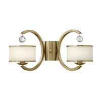 Hinkley 4852BC Monaco 2 Light 20 inch Brushed Caramel Sconce Wall Light, Etched Opal Glass