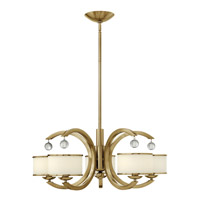 Monaco 5 Light 28 inch Brushed Caramel Chandelier Ceiling Light, Etched Opal Glass