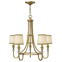 Morgan 5 Light 27 inch Brushed Bronze Chandelier Ceiling Light