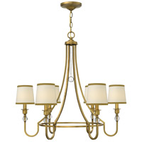 Morgan 6 Light 30 inch Brushed Bronze Chandelier Ceiling Light
