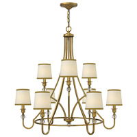 Morgan 9 Light 35 inch Brushed Bronze Foyer Chandelier Ceiling Light