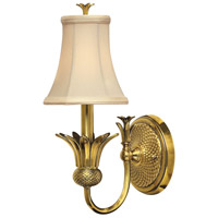 Plantation 1 Light 6 inch Burnished Brass Sconce Wall Light