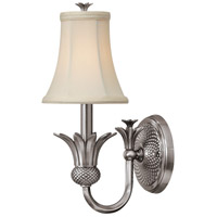 Hinkley 4880PL Plantation 1 Light 6 inch Polished Antique Nickel Sconce Wall Light