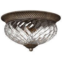 Plantation 3 Light 16 inch Pearl Bronze Flush Mount Ceiling Light