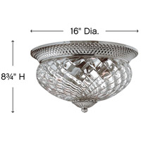 Hinkley 4881PL Plantation 3 Light 16 inch Polished Antique Nickel Flush Mount Ceiling Light alternative photo thumbnail