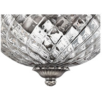 Hinkley 4881PL Plantation 3 Light 16 inch Polished Antique Nickel Bath Flush Mount Ceiling Light alternative photo thumbnail