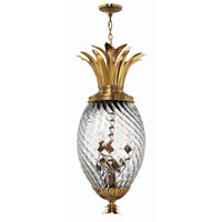 Hinkley Lighting Plantation 6 Light Hanging Foyer in Burnished Brass 4882BB