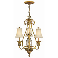 Hinkley Lighting Plantation 4 Light Chandelier in Burnished Brass 4883BB