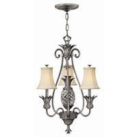 Hinkley Lighting Plantation 4 Light Chandelier in Polished Antique Nickel 4883PL photo thumbnail