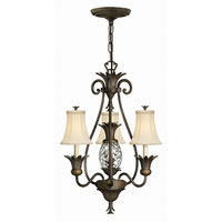 Hinkley Lighting Plantation 4 Light Chandelier in Pearl Bronze 4883PZ photo thumbnail