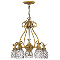 Plantation 5 Light 22 inch Burnished Brass Foyer Chandelier Ceiling Light